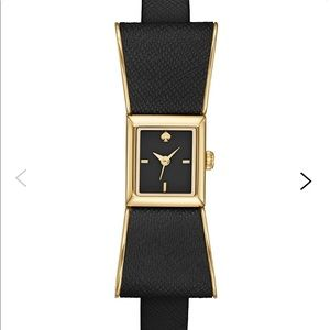 Kate Spade Kenmare Black Bow Leather Watch